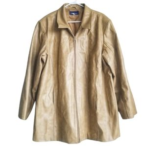 PS Classic / Tan Faux Leather Style Jacket